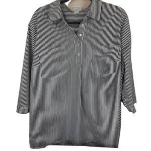 AVA & VIV blue and white stripe top, size 2X